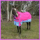 Love My Horse 1200D Rainsheet 5'3 - 6'9 Detachable Neck Waterproof Rug Pink