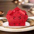 10/40/100 Red Laser Cut Hollow Candy Box Wedding Party Favor Gift Bags W/ Ribbon