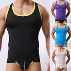 Men's Underwear Tights transparent sheer T-Shirt Sexy Vest Tank Top Strong Tight