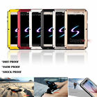 Shockproof Aluminum Metal Glass Case Cover for iPhone X 78 Samsung S6 S7 S8 S8+