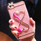 Hot Luxury Bling Glitter Love Hourglass Funnel Case Cover for iPhone 6/6S/7 Plus