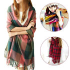 ISASSY Women Blanket Tartan Scarf Wrap Shawl Plaid Cozy Checked Pashmina