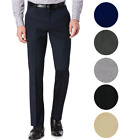 Внешний вид - TM Exposure Men's Premium Slim Fit Dress Pants Slacks Flat Front Multiple Colors