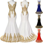 Women Formal Wedding Evening Ball Gown Bridesmaid Party Prom Mermaid Long Dress