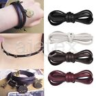 1M Flat Leather Cord Thread String Jewellery Making Bracelet Necklace 5mmx2mm