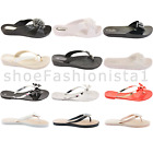 WOMENS LADIES PEEP TOE STRAPPY SUMMER FLAT FLIP FLOP THONG SANDALS SHOES SIZE
