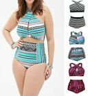 Swimsuit High Waist Bikini Suits Push Up Swimwear Fat Womens Beachwear Plus Size