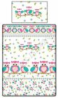 Pink Owls Duvet Cover and Pillowcase - Girls Cot bed/Toddler Bedding 100% Cotton
