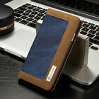 For Apple iPhone X 8 5S 6S 7 Plus Jean Leather Flip Wallet Magnetic Case Cover