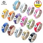 Multi Color Pu Leather Snap Bracelet 18mm Ginger Snap Jewelry Diy Snaps Jewelry