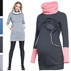 Happy Mama. Women's Nursing Top Breastfeeding Contrast Detail Turtle Neck. 304p