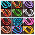 Wholesale 8mm Colorful Glass Round Smooth Spacer Loose Charms Beads Bulk