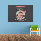 PERSONALISED WELCOME TO NAME CHRISTENING CELEBRATION PHOTO BANNER PINK GIRL
