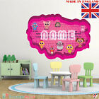 NEON 06 Wall PERSONALISED NAME Children Room Wall Sticker Decal Fabric  Vinyl UK