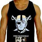OAKLAND RAIDERS T-SHIRT TANK TOP FREE RAIDER FACESHIELD WITH PURCHASE $21.99 USD on eBay