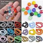 10mm 30Pcs Rondelle Faceted Crystal Glass Charms Loose Spacer Beads Wholesale