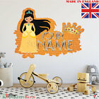 Princess 06 PERSONALISED NAME  Children Room Wall Sticker Decal Fabric  Vinyl UK