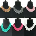 Boho Chic Western Style Seed-Bead Weave Collar Necklace