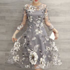 ❀Elegant Womens Floral  Long Maxi Evening Party Cocktail Prom Floral Beach Dress