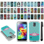 For Samsung Galaxy S5 G900 Hybrid Bumper Shockproof Hard TPU Case Cover + Pen