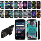 For LG Stylo 3 Plus/ Stylo 3/ Stylus 3 LS777 Hybrid Kickstand Case Cover + Pen