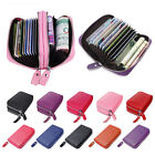 Women Ladies NEW Leather Credit Card Folding Id Holder Small Zipper Case Wallet