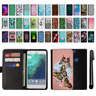 "For Google Pixel 5"" HTC Magnetic Flip Wallet Leather POUCH Case Cover + Pen"