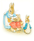 PETER RABBIT Beatrix Potter cross stitch chart also available as A4 glossy print