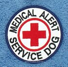 MEDICAL ALERT SERVICE DOG PATCH RED CROSS 3 INCH Danny & LuAnns Embroidery