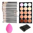 15 Colors Makeup Cosmetic Face Cream Concealer Palette + 70 PCS Brushes NC8901