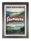 Falmouth Cornwall Retro Picture Old Railway Advert Photo Vintage Poster