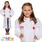 CHILD DOCTOR DOC MEDIC DRESS UP OUTFIT AGE 4-12 girls kids fancy dress costume
