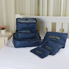 6pcs Waterproof Travel Clothes Storage Bags Luggage Organizer Pouch Packing Case