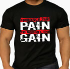 Men's Pro Embrace the Pain Workout Kettlebell Exercise Gym MMA  Black T Shirt