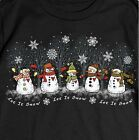 Snowman Shirt, Snowmen - Let It Snow! Winter Snowflake Shirt, Small - 5X