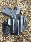 Black Leather Holster for Glock OWB  Made in USA
