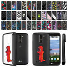 For LG K10 Premier LTE L62VL K428 K430 Hybrid Clear TPU bumper Case Cover + Pen