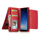Magnetic Removable Wallet Zipper Leather Case Cover for Samsung S5 S6 S7 Edge