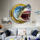 3D Sea Animal Break Wall Kids Room Decor Vinyl Animal Wall Sticker Mural Decal