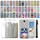 For LG Aristo MS210 LV3 K8 M150 Fortune Sparkling Silver TPU Case Cover + Pen
