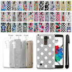 For LG Stylus 2 Plus Stylo 2 Plus K550 Sparkling Silver TPU Case Cover + Pen