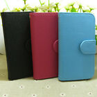 Classic Litchi Skin Wallet Holder flip case cover for Huawei Mobile Phone