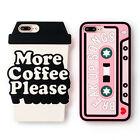 Cartoon Cute chili Tape coffee Silicone soft case Cover for iphone 7 6 6S plus