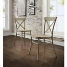 Better Homes and Gardens Collin Silver Dining Chair, 2-Pack