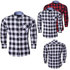 Mens Long Sleeve Check Brave Soul Brushed Pure Cotton Casual Shirt Size S M L XL