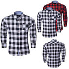 New Mens Long Sleeve Check Brave Soul Flannel Cotton Casual Shirt Size S M L XL