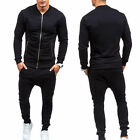 Mens Tracksuit Jogging Top Bottom Sport Suit Sets Coat Trousers Casual Outerwear