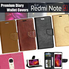 Diary Wallet Style Folio Flip Flap Cover Case For Xiaomi Redmi Note 4
