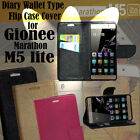Diary Wallet Style Folio Flip Flap Cover Case For Gionee Marathon M5 Lite