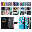 "For Sony Xperia XA Ultra 6"" Ultra Slim Canvas Wallet Pouch Case Cover + Pen"